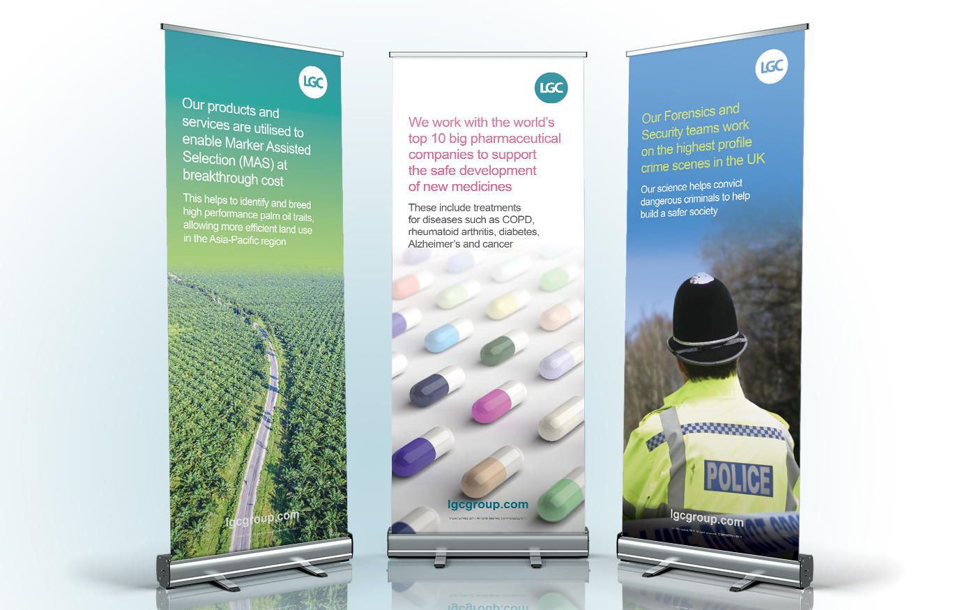 LGC Outcome Pull Up Banners
