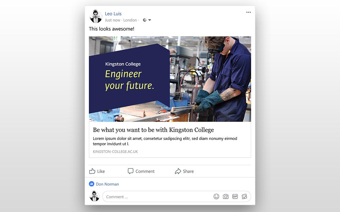 Kingston College Social Posts - Engineering