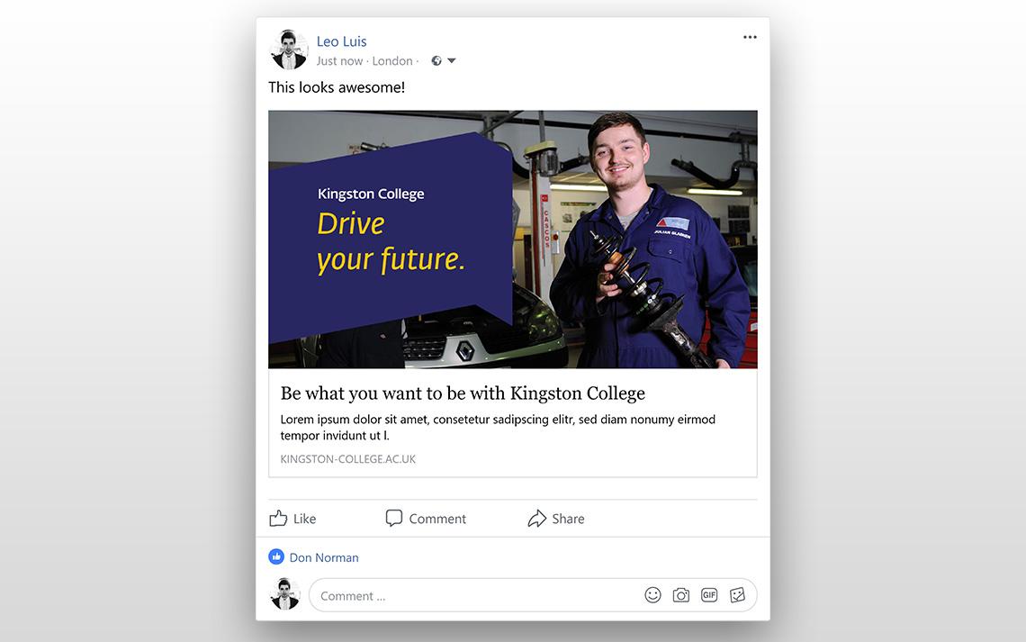 Kingston College Social Posts - Mechanic