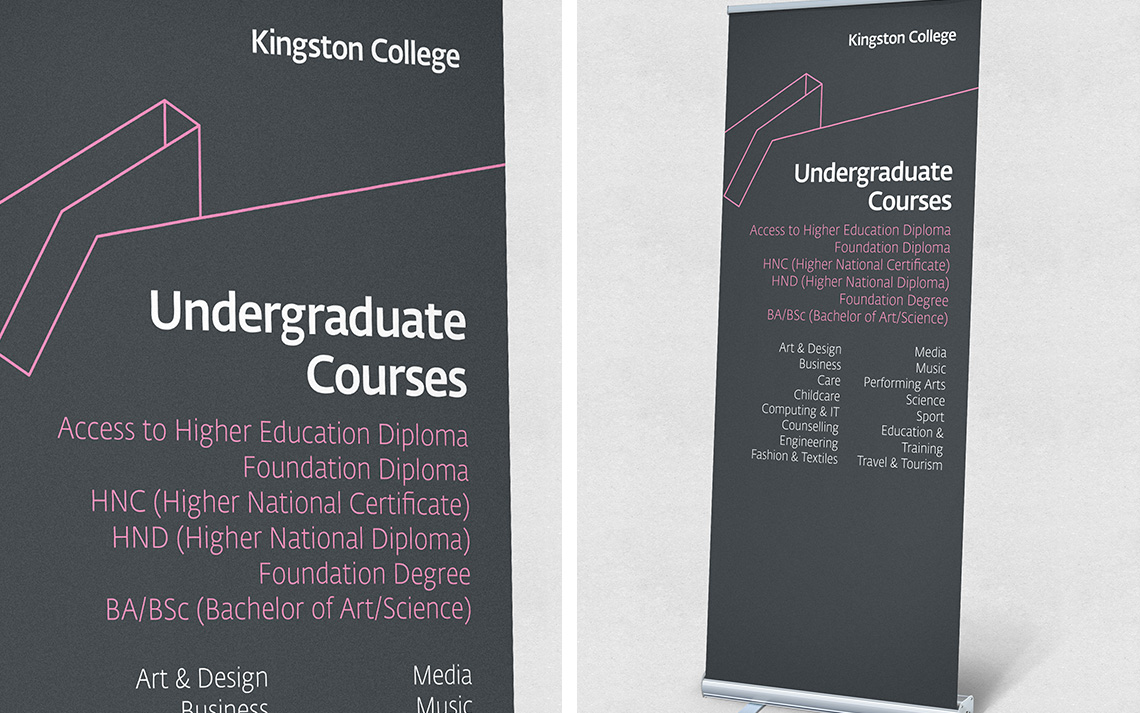 Kingston College Undergraduate Pull-up Banners